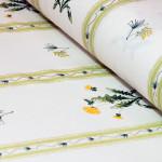 ткань светлая с цветами в рулоне для штор и шитья