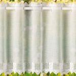 белая занавеска с вышивкой
